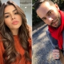 Side-by-Side Selfies of Fernanda Flores and Jonathan Rivera