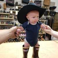 Elijah Brown Wearing Cowboy Hat