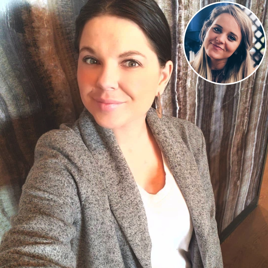 Inset Photo of Jinger Duggar Over Photo of Amy Duggar