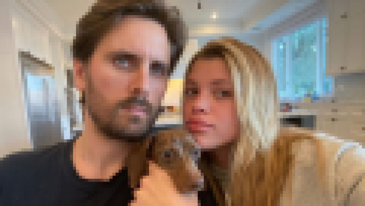 Scott Disick and Sofia Richie with Dog Herschel