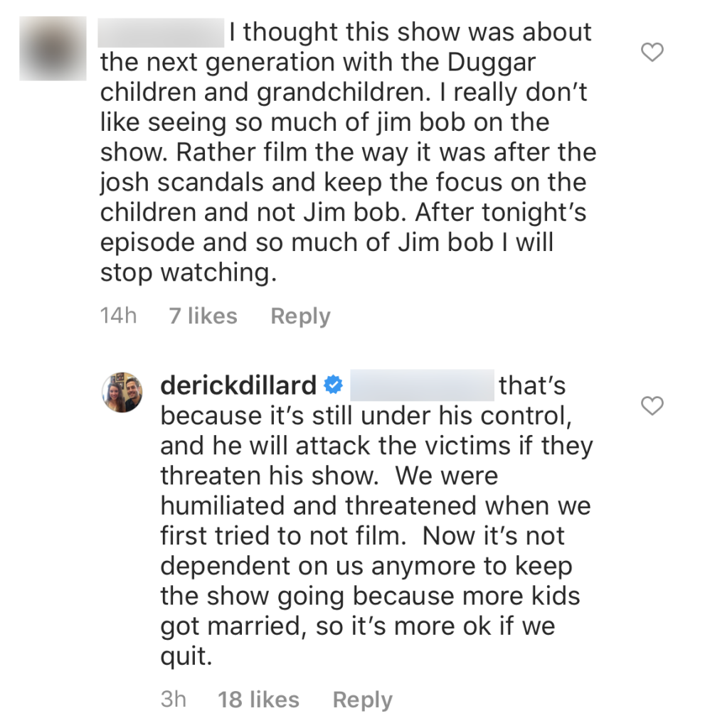 Counting On Alum Derick Dillard Says Jim Bob Controls the Show, Will Attack Victims if They Threaten Not to Film