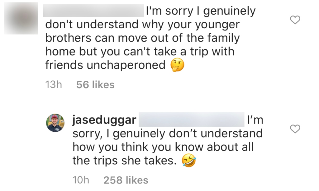 Counting On Star Jason Duggar Defends Big Sister Jana Duggar Over Hate About Moving Out and Going On Trips With Dad Jim Bob Duggar