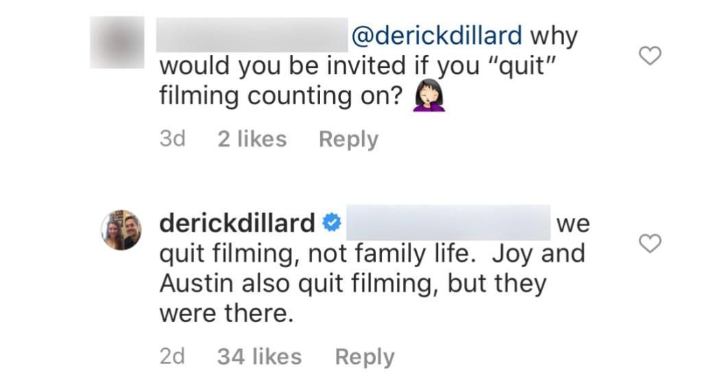 Derick Dillard Claims Joy-Anna Duggar and Austin Forsyth Quit Filming Counting On
