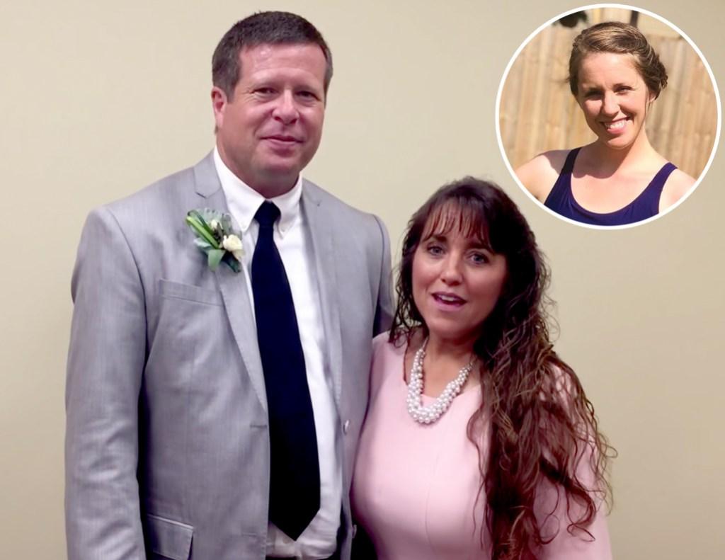Inset Photo of Jill Dillard over Photo of Jim Bob and Michelle Duggar