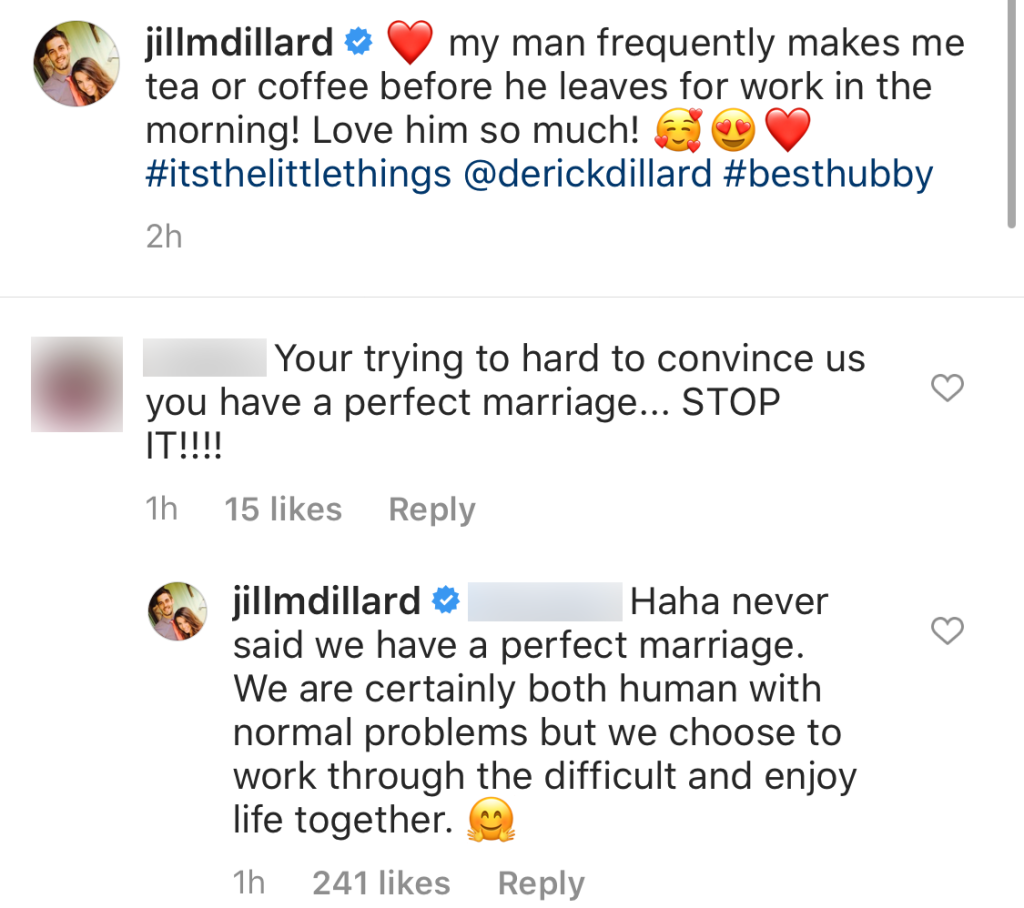 Jill Duggar Claps Back at Claims She's Trying Too Hard to Pretend She Has a Perfect Marriage With Husband Derick Dillard