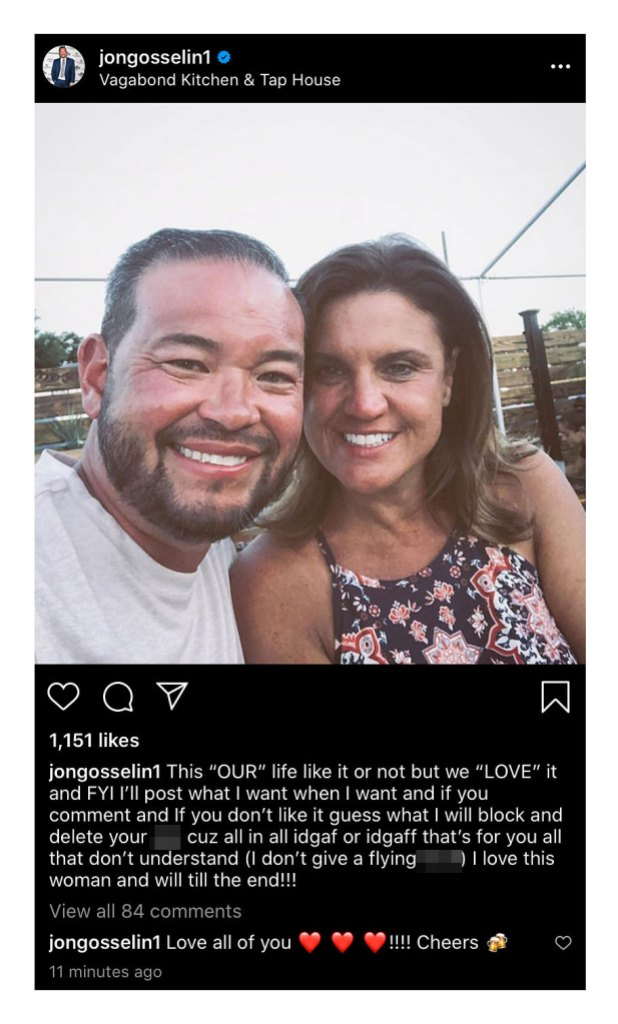 Jon Gosselin Defends Relationship and Threatens to Block Trolls in Deleted Rant