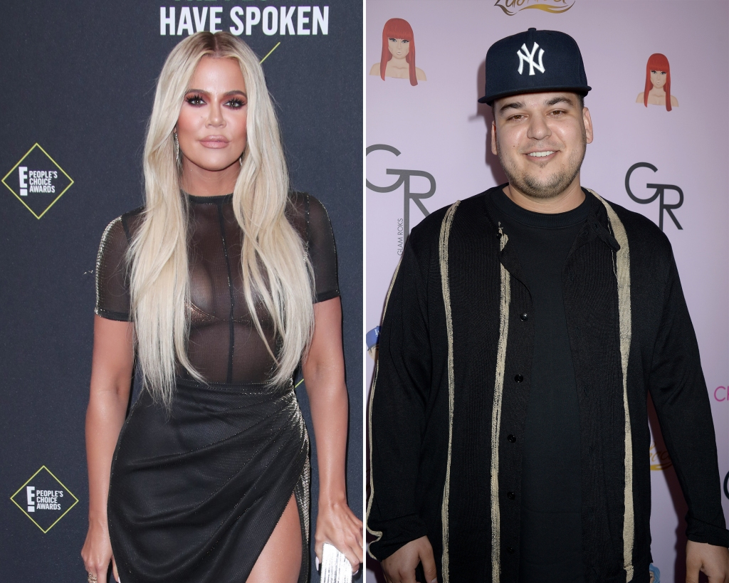 Side-by-Side Photos of Khloe Kardashian and Rob Kardashian