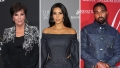 Side-by-Side Photos of Kris Jenner, Kim Kardashian and Kanye West