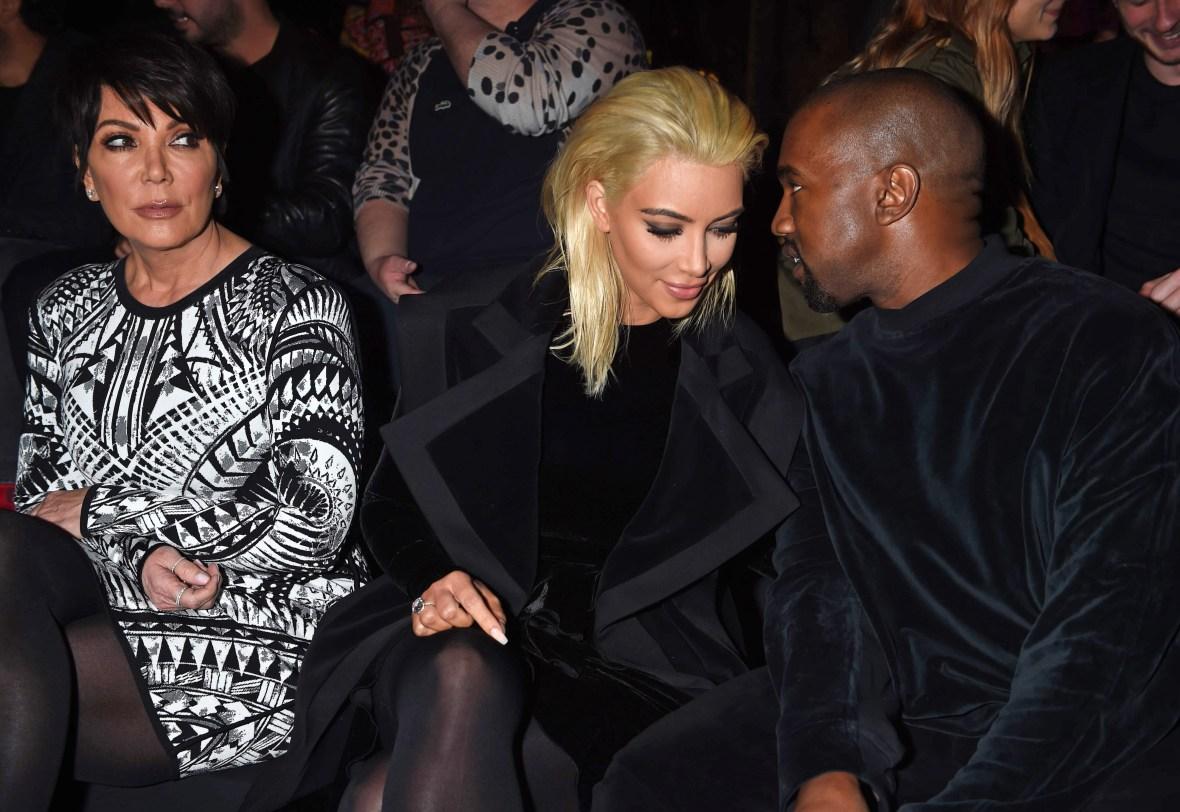 Kris Jenner Looks at Kim Kardashian With Kanye West