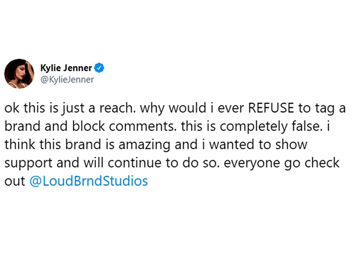 Kylie Jenner Slams Claims She Refused Tag Black-Owned Brand