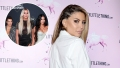 Inset Photo of Kourtney, Khloe and Kim Kardashian Over Photo of Larsa Pippen