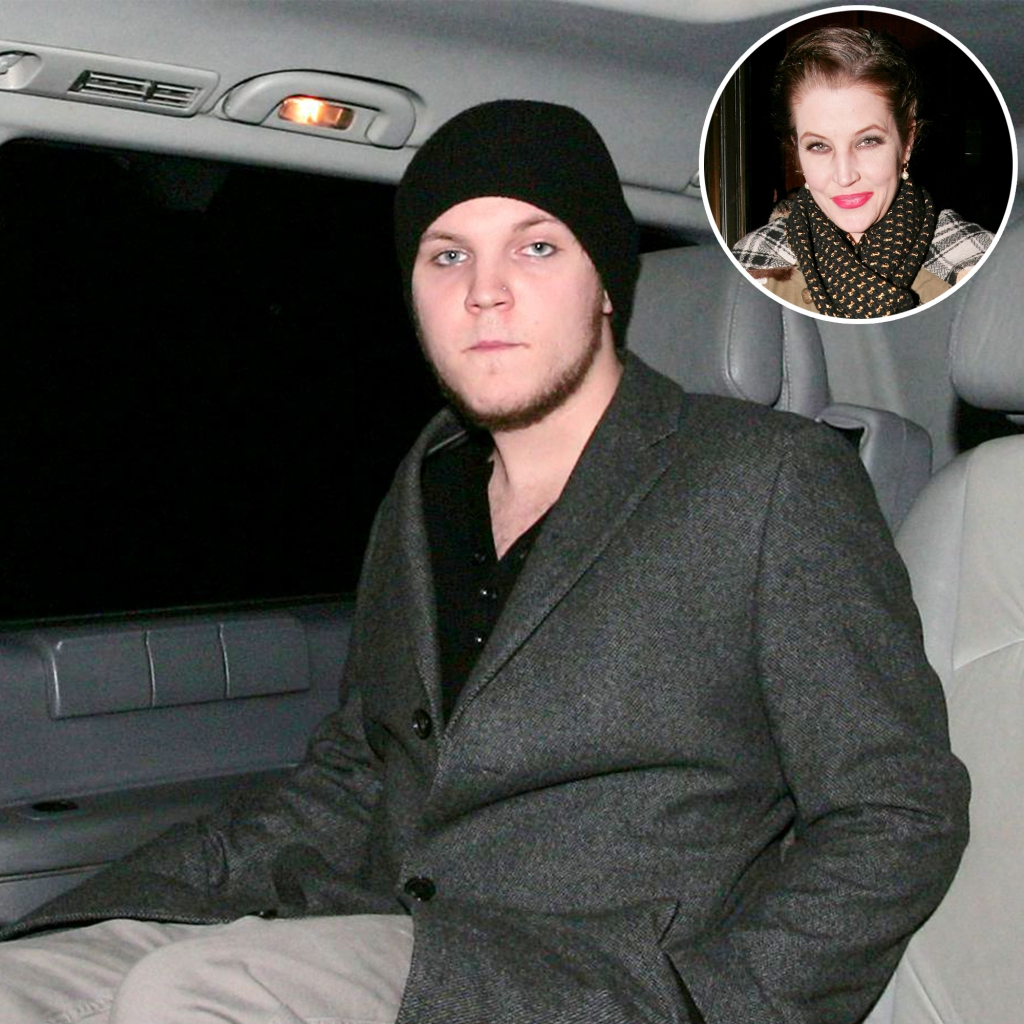 Inset Photo of Lisa Marie Presley Over Photo of Benjamin Keough