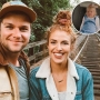Inset Photo of Ember Riding in Car Without Seat Belt Over Photo of Jeremy and Audrey Roloff