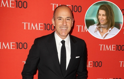 Inset Photo of Shamin Abas Over Photo of Matt Lauer