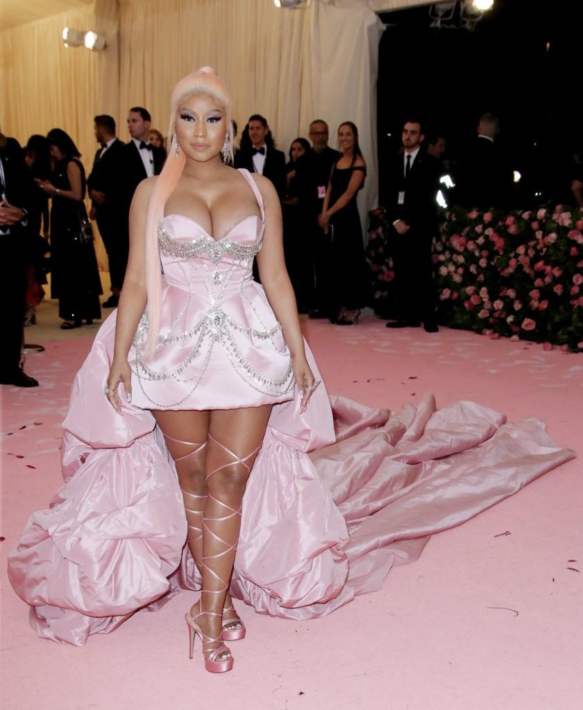 Nicki Minaj in Pink Dress
