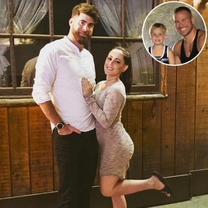 Inset Photo of Nathan Griffith and Kaiser Over Photo of David Eason and Jenelle Evans