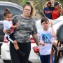Inset Photo of Kailyn Lowry and Chris Lopez Over Photo of Pregnant Kail With Sons