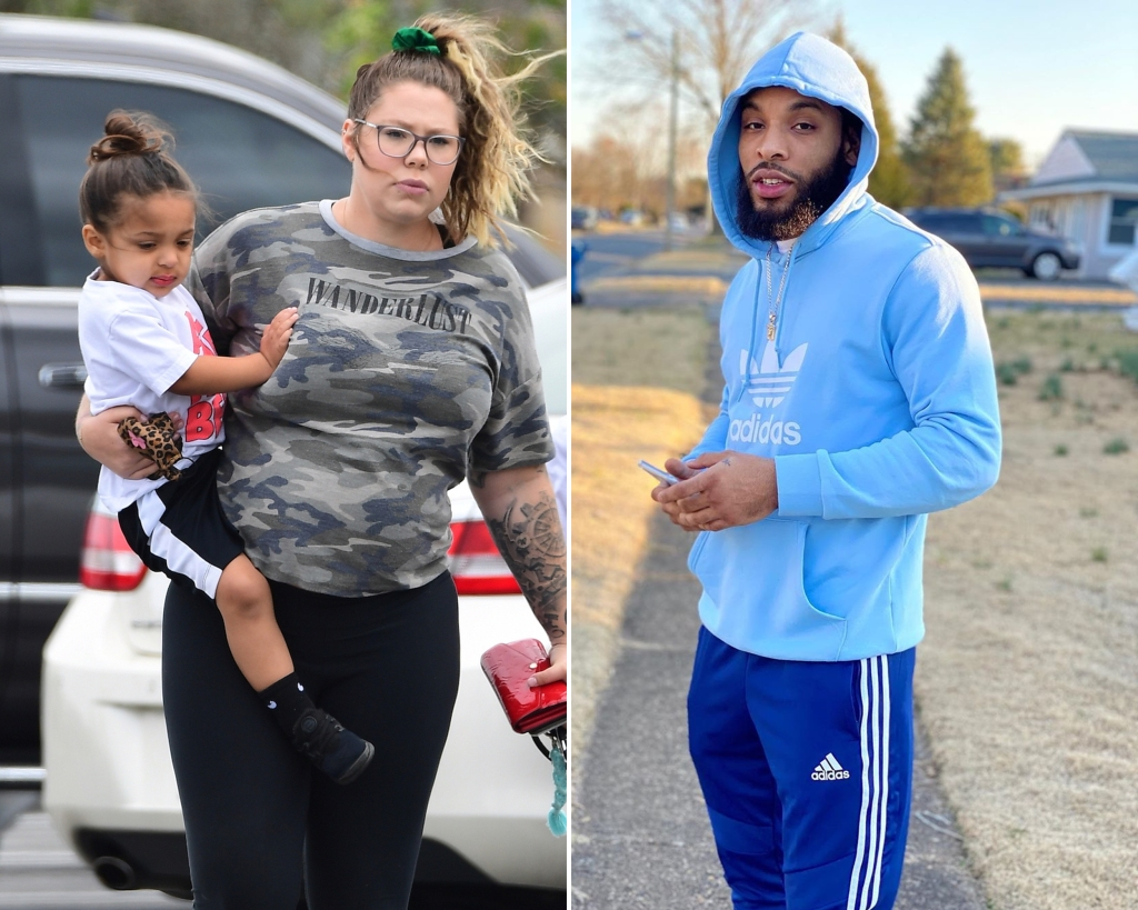 Side-by-Side Photos of Kailyn Lowry Carrying Son Lux and Chris Lopez