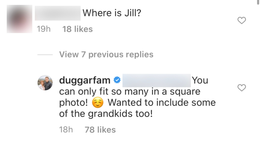 The Duggars Respond to Claims They Cut Jill Duggar Out of a Family Photo Amid Derick Dillard Feud