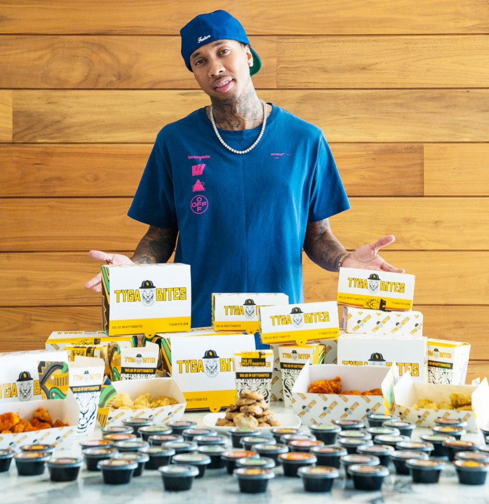 Tyga and Restaurateur Robert Earl Launch Virtual Dining Concept Tyga Bites