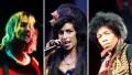 Side-by-Side Photos of Kurt Cobain, Amy Winehouse, Jimi Hendrix