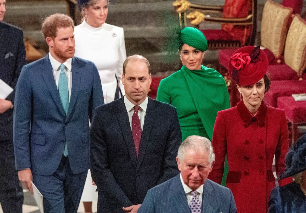 William, Kate, Harry and Meghan at 2020 Commonwealth Service