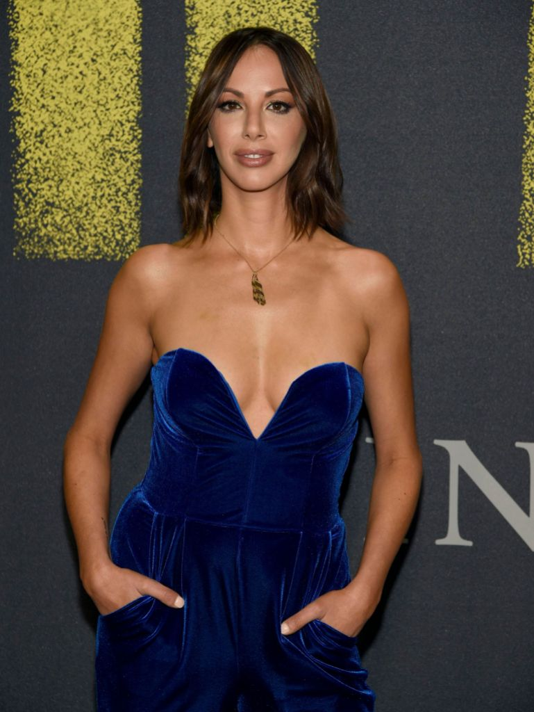 Kristen Doute Wears Blue Velvet Jumpsuit