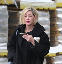 Former teacher MaryKay Letourneau is seen looking tense at LoweÕs Home Improvement where she went to pick up her car in an Uber in Washington.