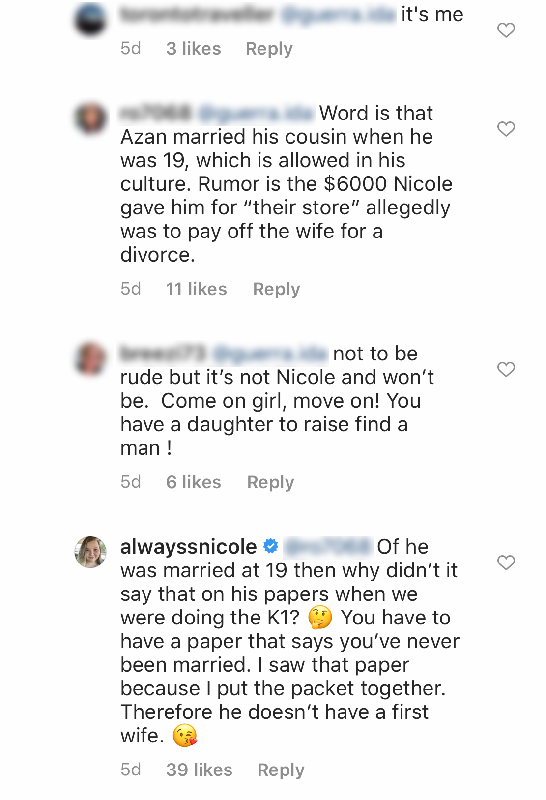 90 Day Fiance's Nicole Slams Rumors That Fiancé Azan Had a 'First Wife' Before They Met