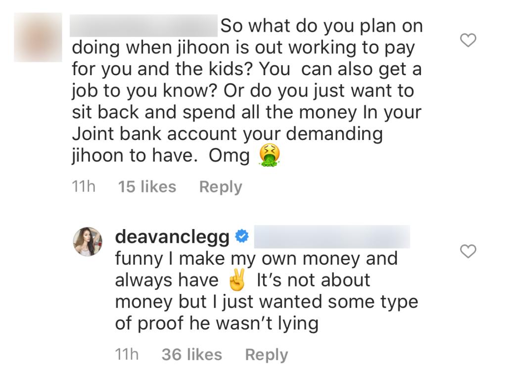90 Day Fiance Star Deavan Clegg Denies Wanting to Spend All of Jihoon Lee's Money
