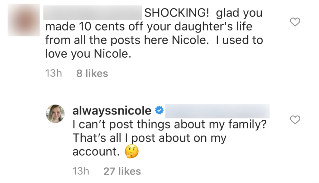 90 Day Fiance Star Nicole Nafziger Slams Claims She's Making Money Off Daughter May on Instagram