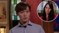 Inset Photo of Deavan Clegg Over Photo of Jihoon Lee