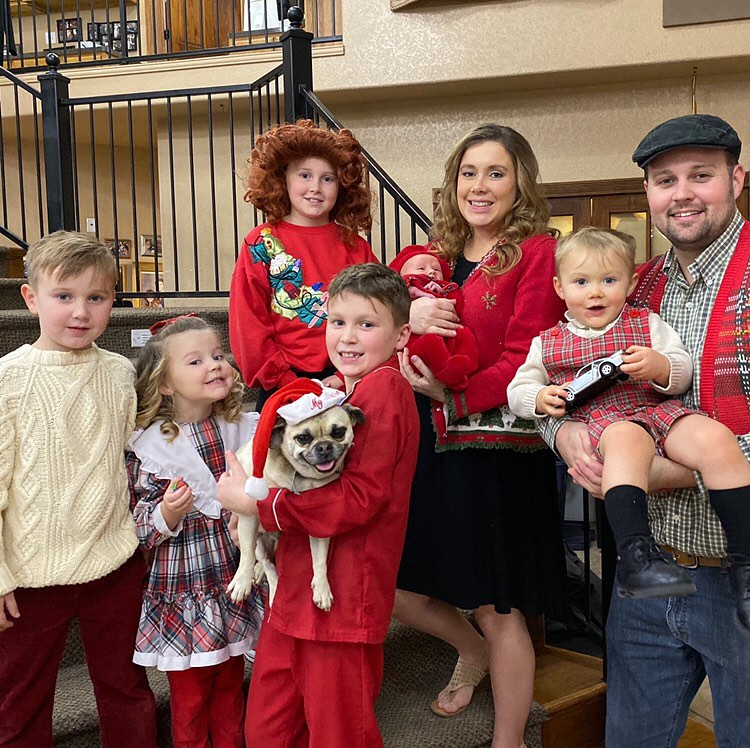 Anna Duggar With Husband Josh and Kids at Duggar Christmas Party