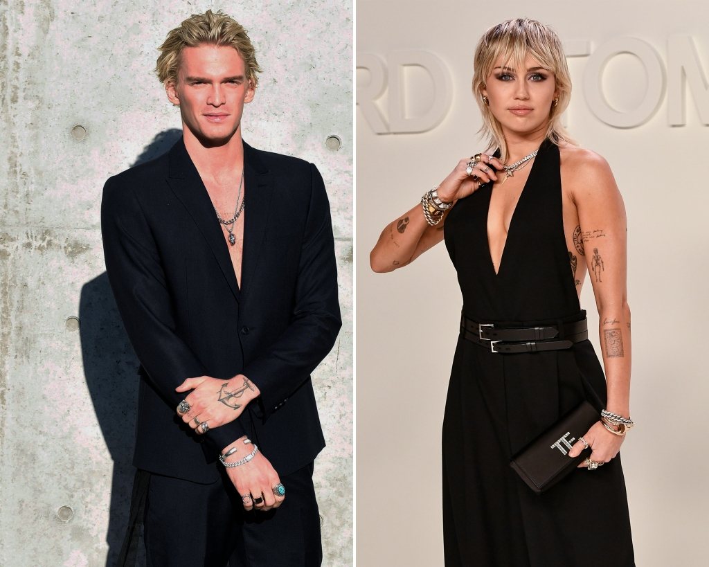 Side-by-Side Photos of Cody Simpson and Miley Cyrus