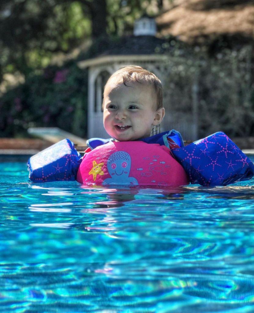 Felicity Vuolo Swims With Floaties