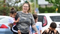 Pregnant Kailyn Lowry Walking With Three Older Sons