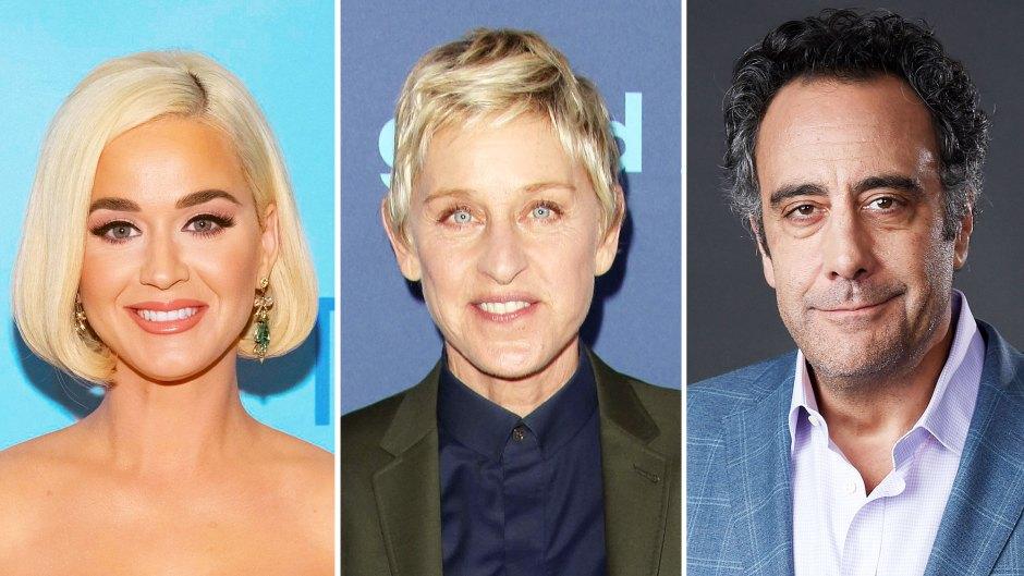Katy Perry Ellen DeGeneres and Brad Garrett Celebrities React to Claims of Ellen DeGeneres Toxic Workplace