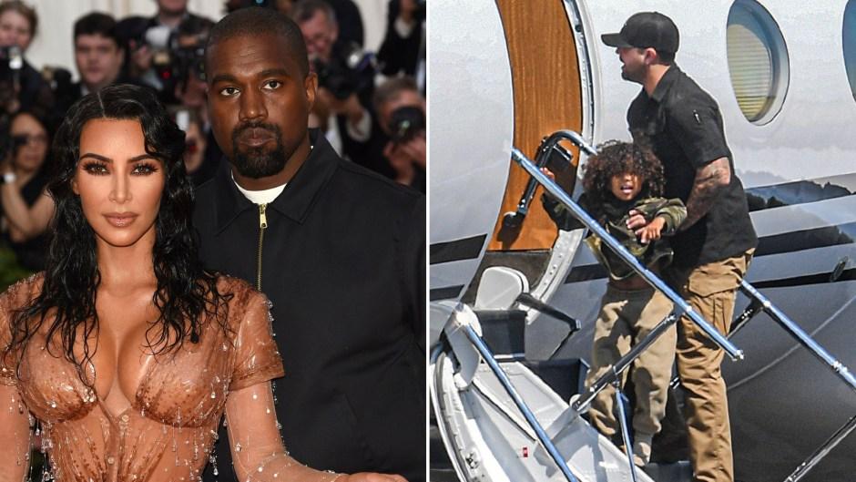 Kim Kardashian and Kanye's Son Saint Spotted in Wyoming Amid Drama