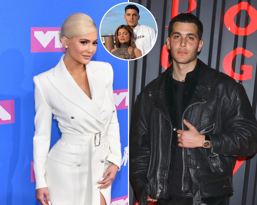 Side-by-Side Photos of Kylie Jenner and Fai Khadra With Inset Photo of Kylie and Fai Together
