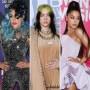 Side-by-Side Photos of Lady Gaga, Billie Eilish and Ariana Grande