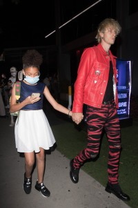 Machine Gun Kelly and Daughter Casie Baker Get Dinner at Boa in West Hollywood