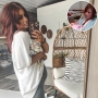 Inset Photo of Teenage Chelsea Houska Holding Baby Aubree Over Photo of Chelsea Houska Pregnant With Baby No. 4