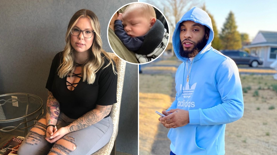 Inset Photo of Creed Lopez Over Side-by-Side Photos of Kailyn Lowry and Chris Lopez