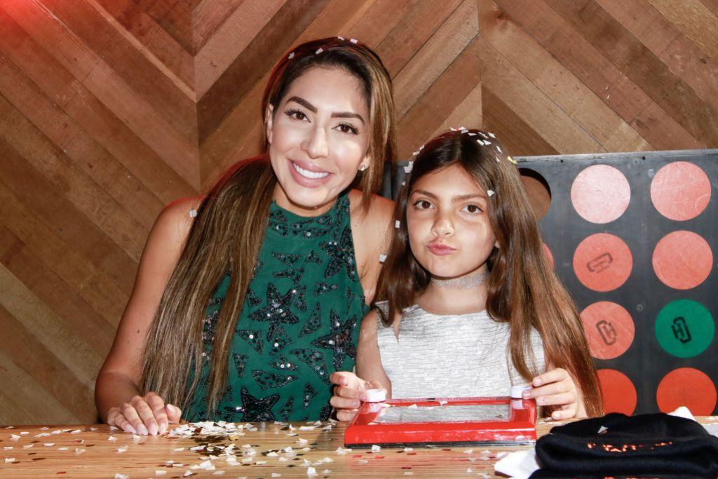 Farrah Abraham and Sophia Abraham at Beauty Event