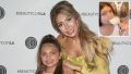 Inset Photo of Sophia With Long Nails Over Photo of Sophia Abraham and Farrah Abraham