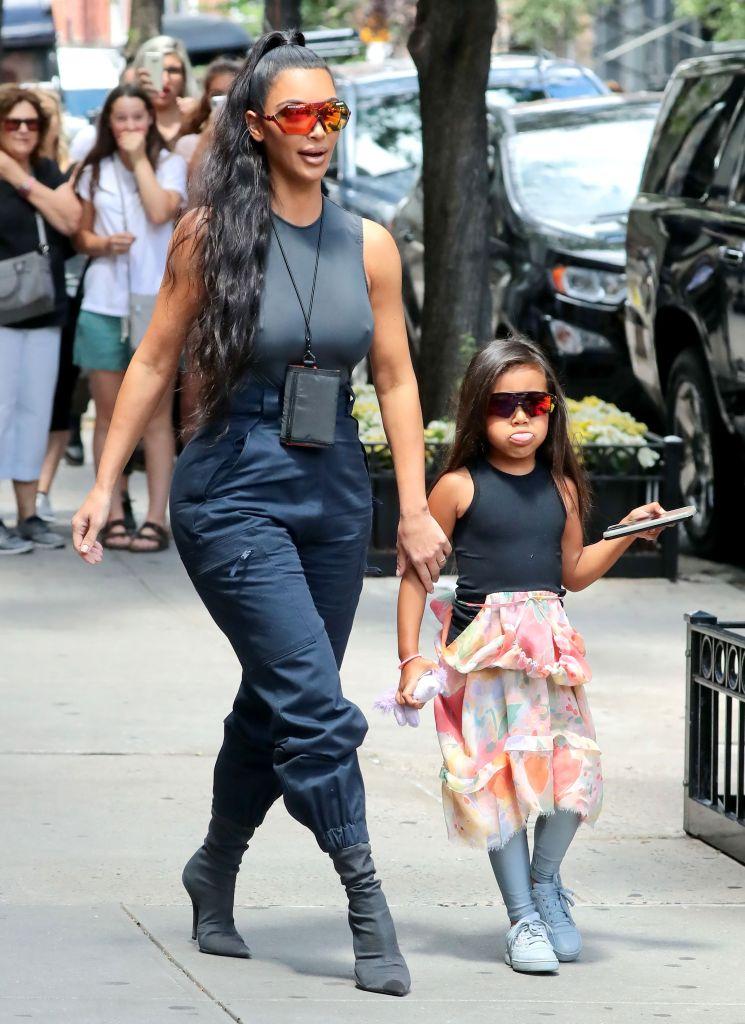kim-kardashian-and-north-west-walking