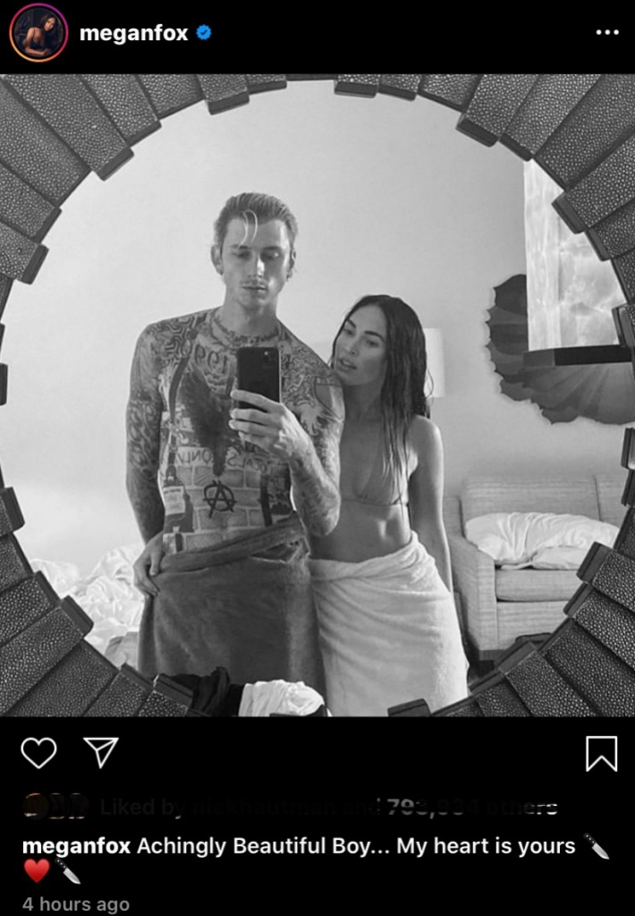 mgk-and-megan-fox-black-and-white-selfie