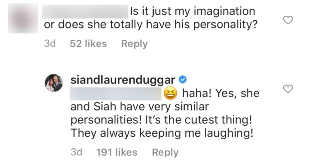 Counting On Star Lauren Swanson Says Josiah Duggar and Daughter Bella Have Very Similar Personalities