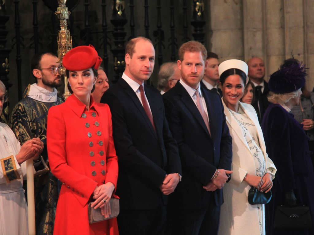 Kate, William, Harry and Meghan at Commonweath Day