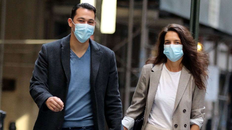 Katie Holmes and Emilio Vitolo Hold Hands During Walk in NYC